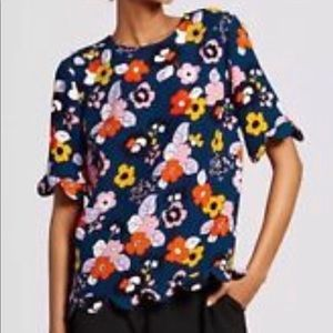 Victoria Beckham for Target Floral Top Size Small